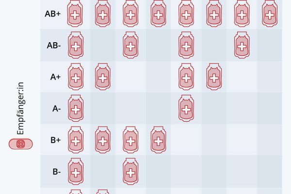 Welche Blutgruppe kann für wen spenden?